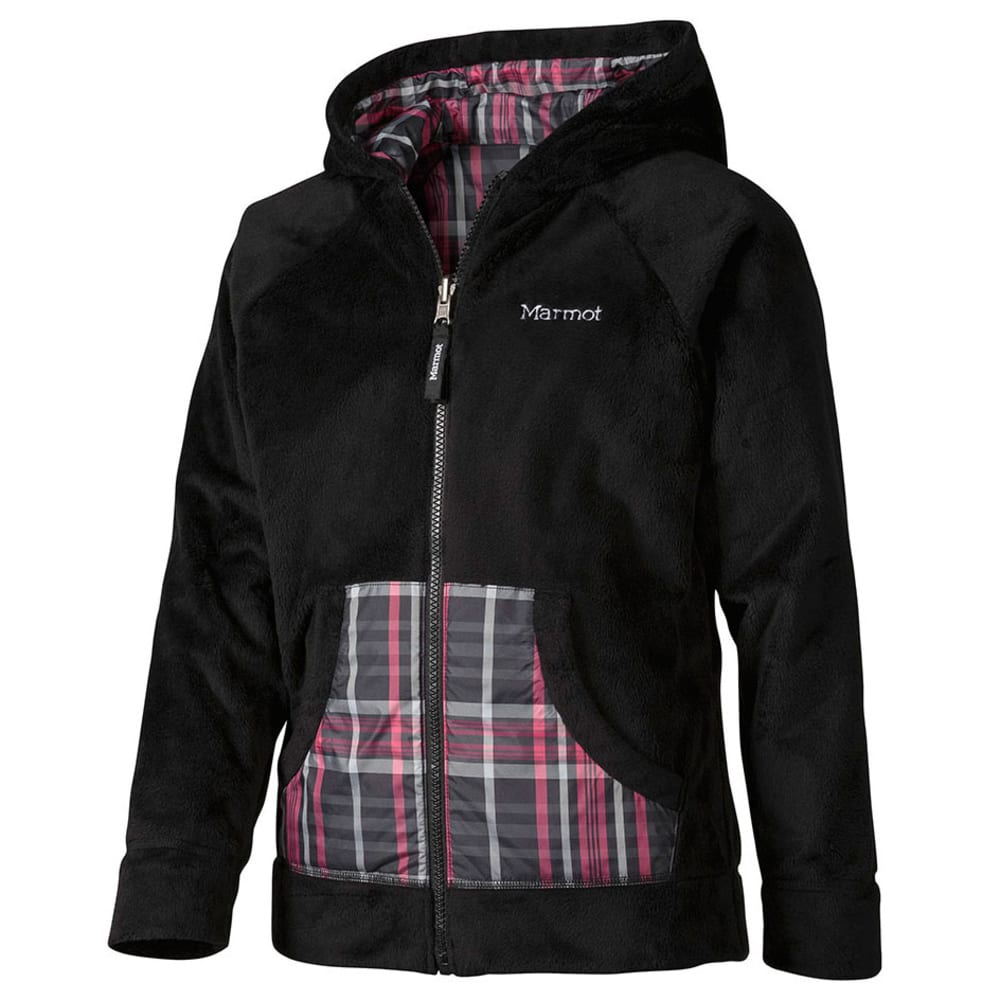 MARMOT Girls' Snow Fall Reversible Jacket - BLACK