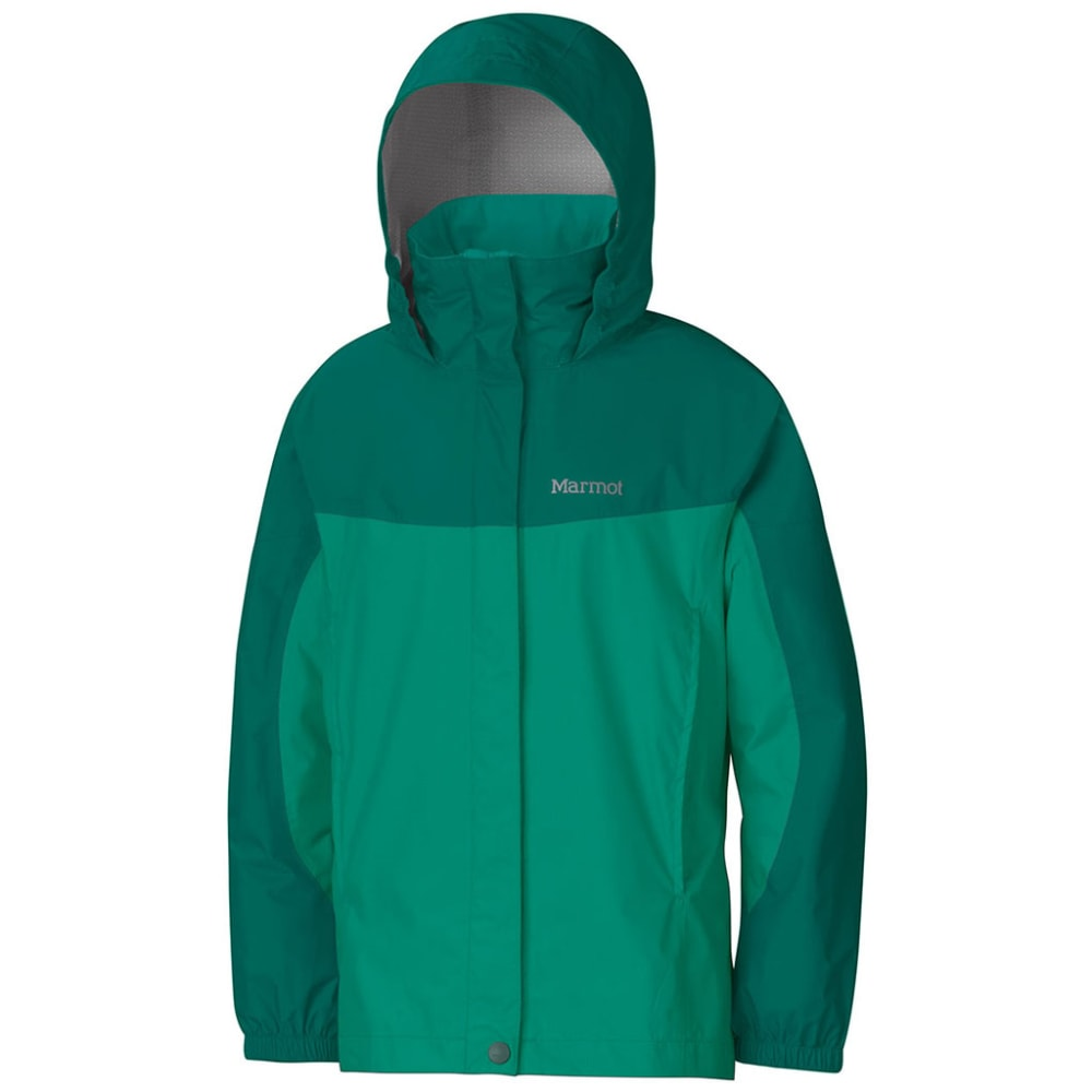 MARMOT Girls' PreCip Rain Jacket - GEM GREEN