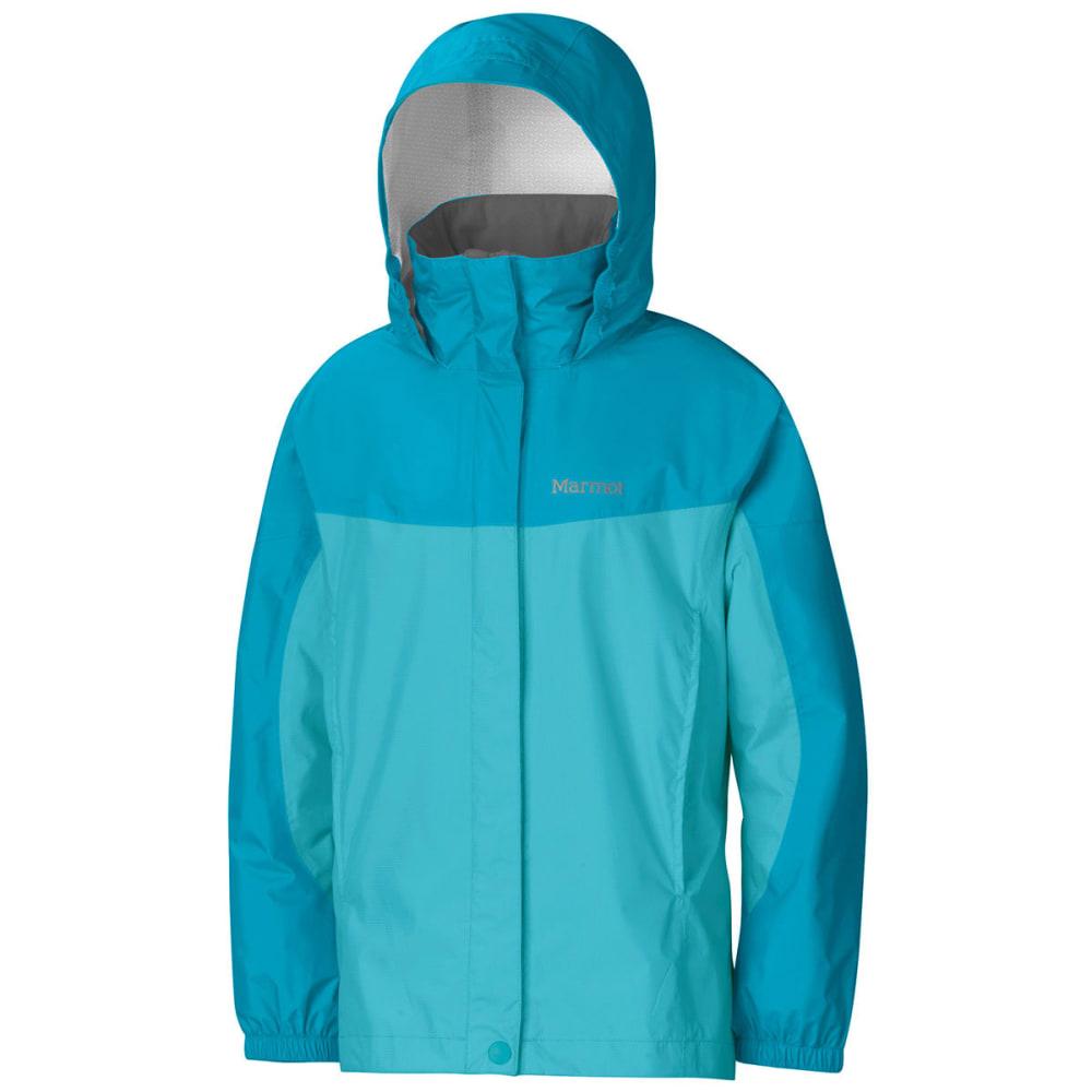 MARMOT Girls' PreCip Rain Jacket - AQUA