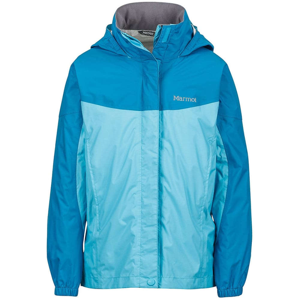 MARMOT Girls' PreCip Rain Jacket - LIGHT AQUA