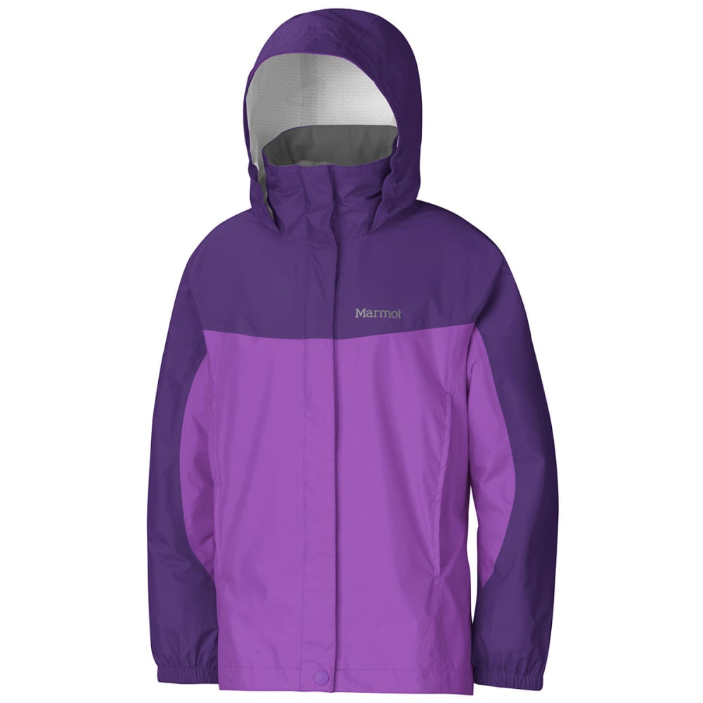 MARMOT Girls' PreCip Rain Jacket - PURPLE