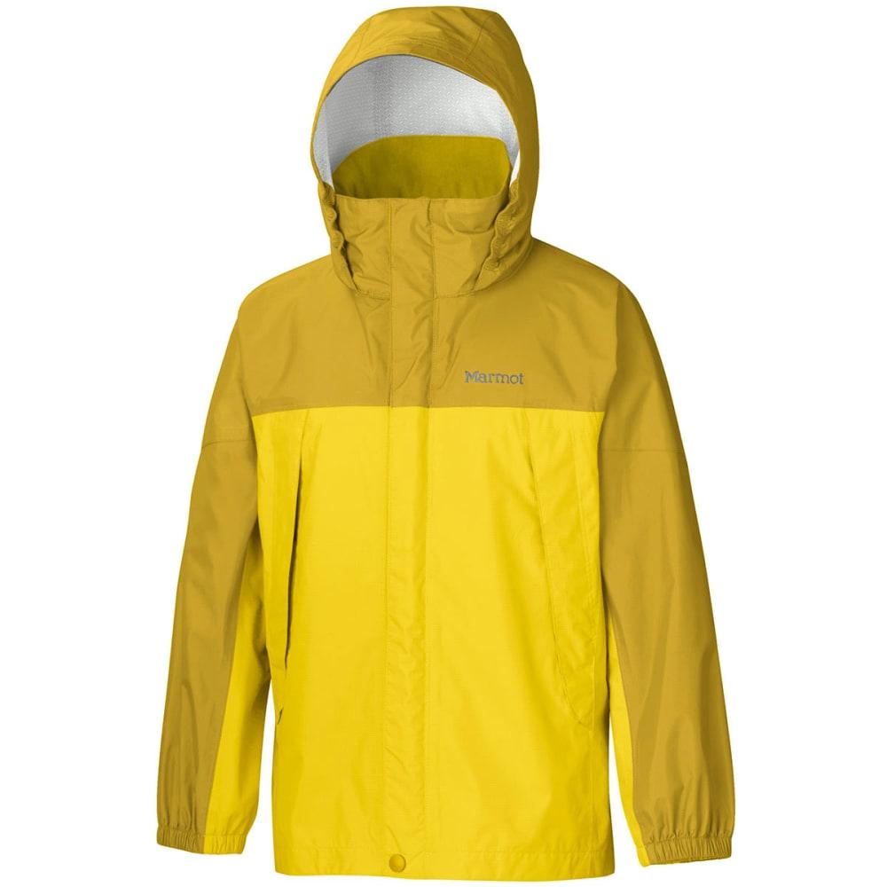 MARMOT Boys' PreCip Rain Jacket - YELLOW VAPOR/GREEN M
