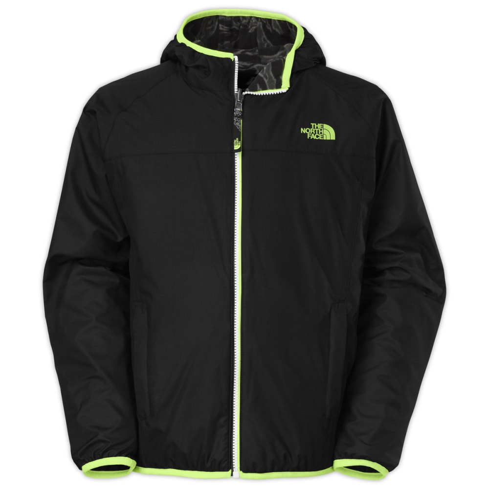 THE NORTH FACE Boys' Cahow Reversible Print-Lined Wind Jacket - TNF BLACK