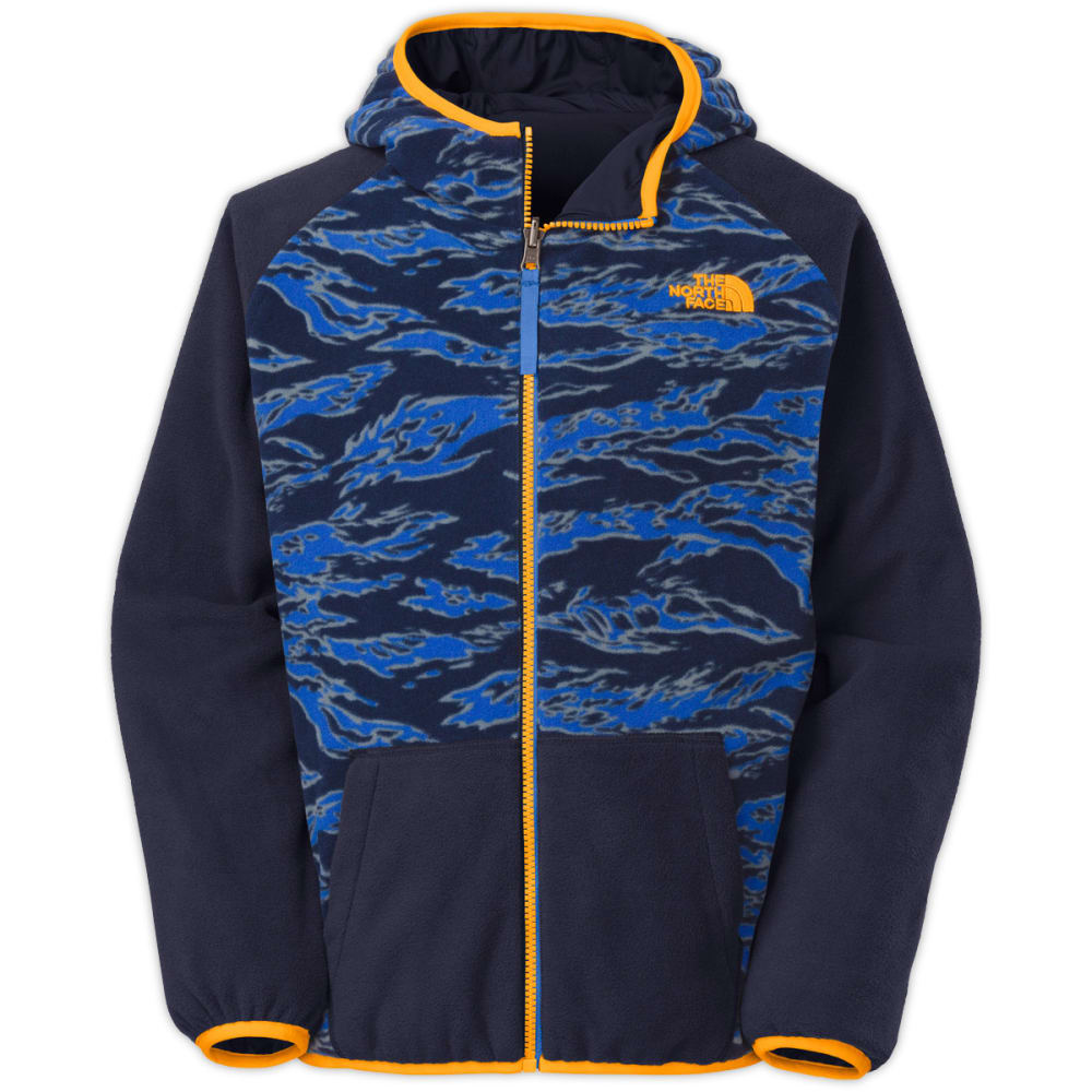 THE NORTH FACE Boys' Cahow Reversible Print-Lined Wind Jacket - COSMIC BLUE