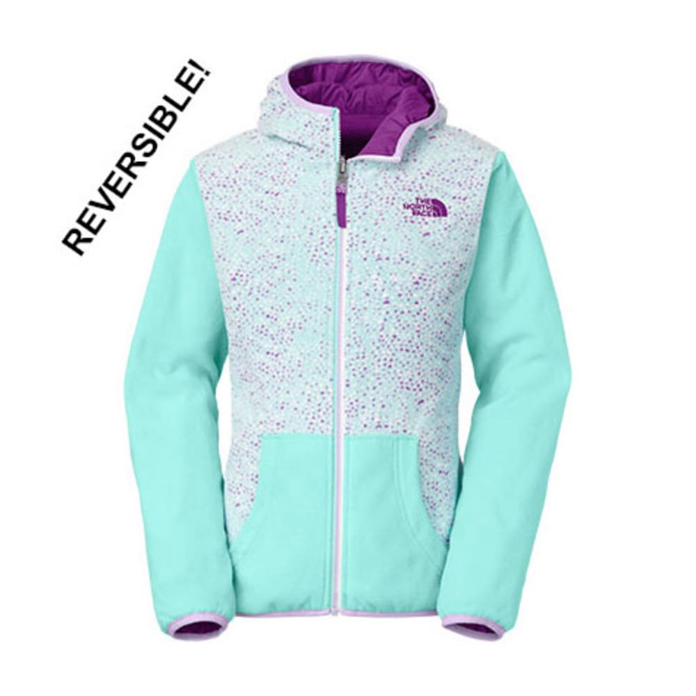 THE NORTH FACE Girls' Linnet Reversible Print-Lined Wind Jacket - FORTUNA BLUE