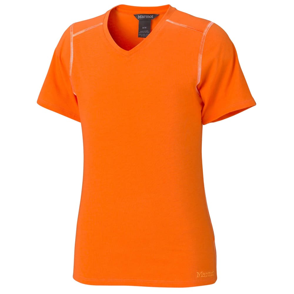 MARMOT Girls' Jaden T-Shirt, S/S - SUNSET ORANGE