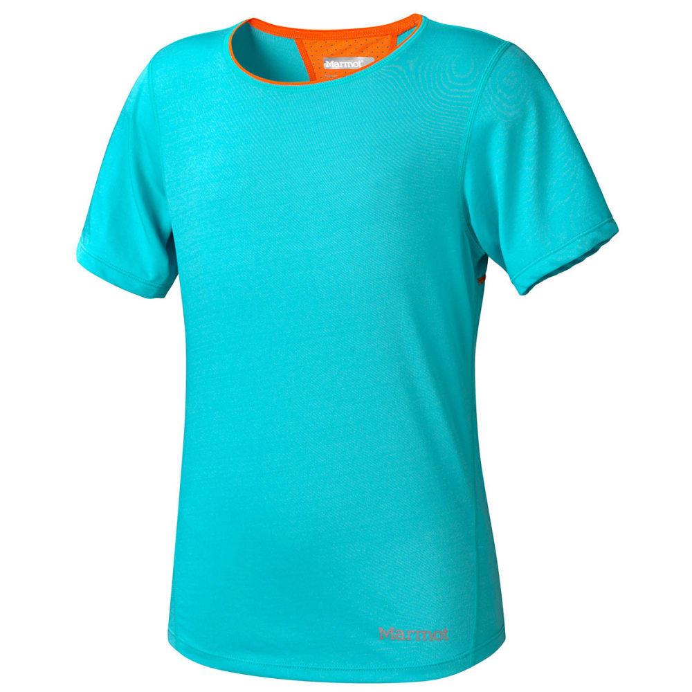 MARMOT Girls' Essential Shirt, S/S - CERAMIC BLUE