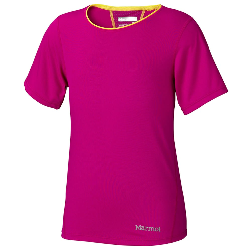 MARMOT Girls' Essential Shirt, S/S - LIPSTICK