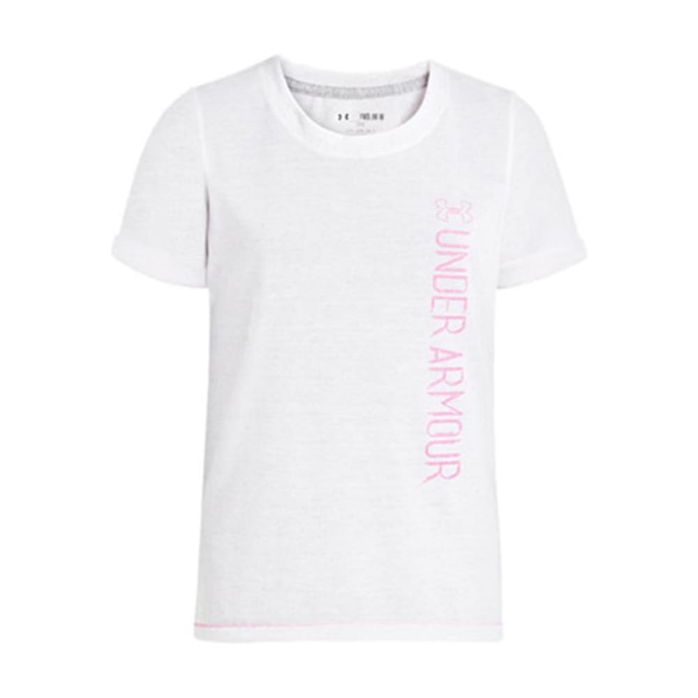 UNDER ARMOUR Girls' Speckle T-Shirt - WHITE