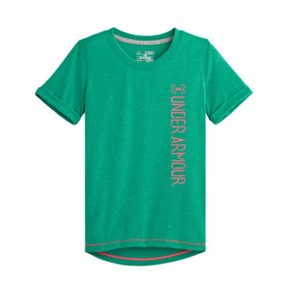UNDER ARMOUR Girls' Speckle T-Shirt - EMERALD