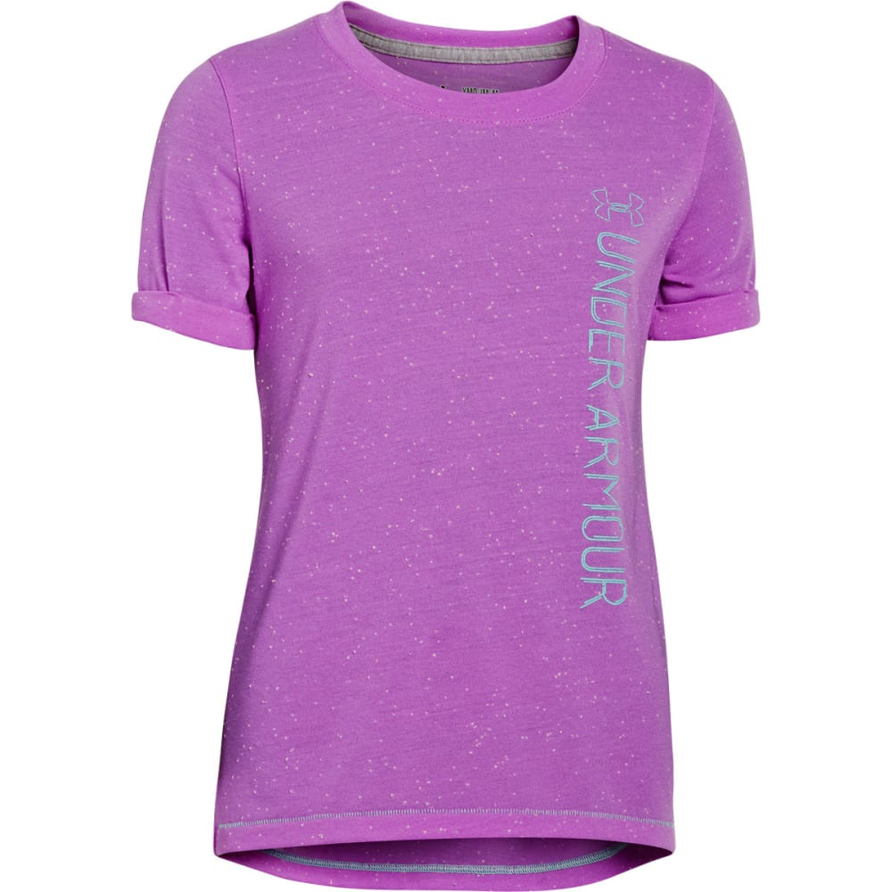 UNDER ARMOUR Girls' Speckle T-Shirt - EXOTIC BLOOM