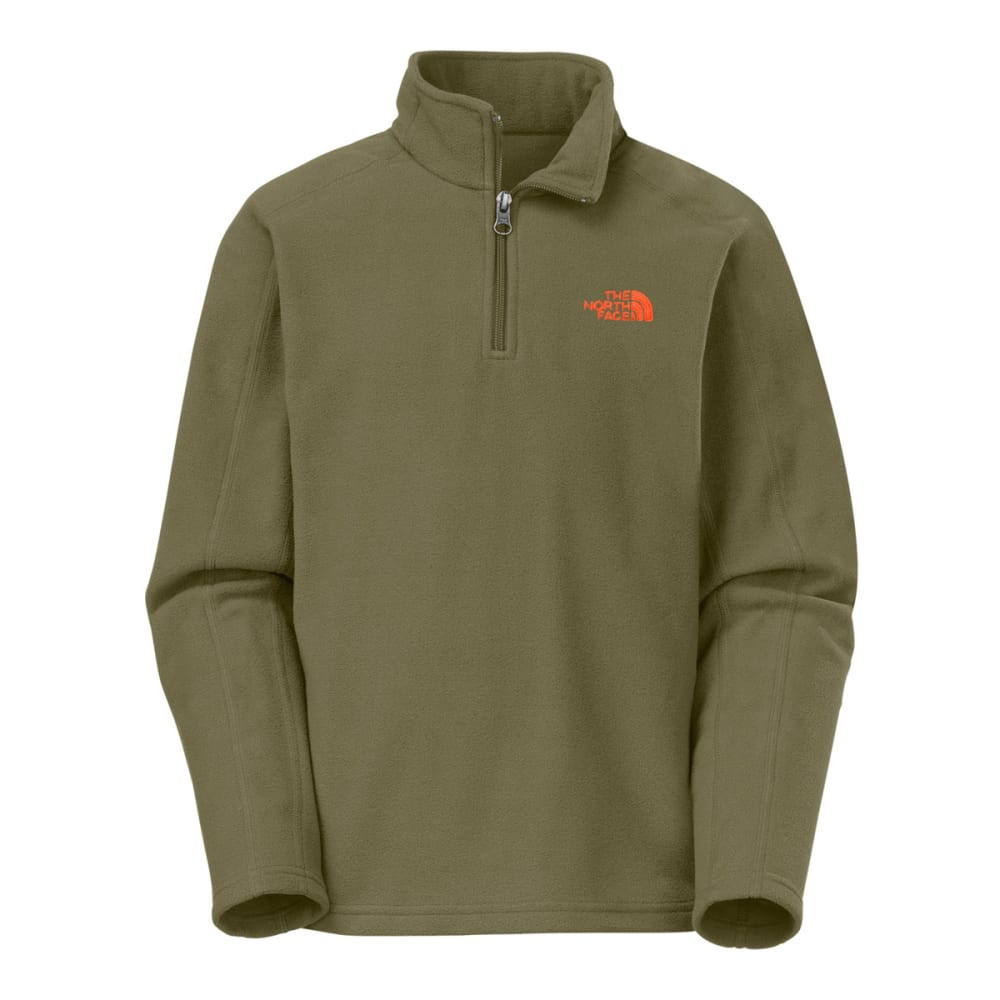 THE NORTH FACE Boys' Glacier ¼ Zip - OLIVE GREEN