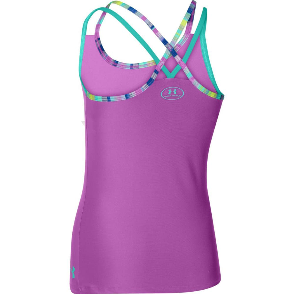 UNDER ARMOUR Girls' UA Elevate Tank - EXOTIC BLOOM