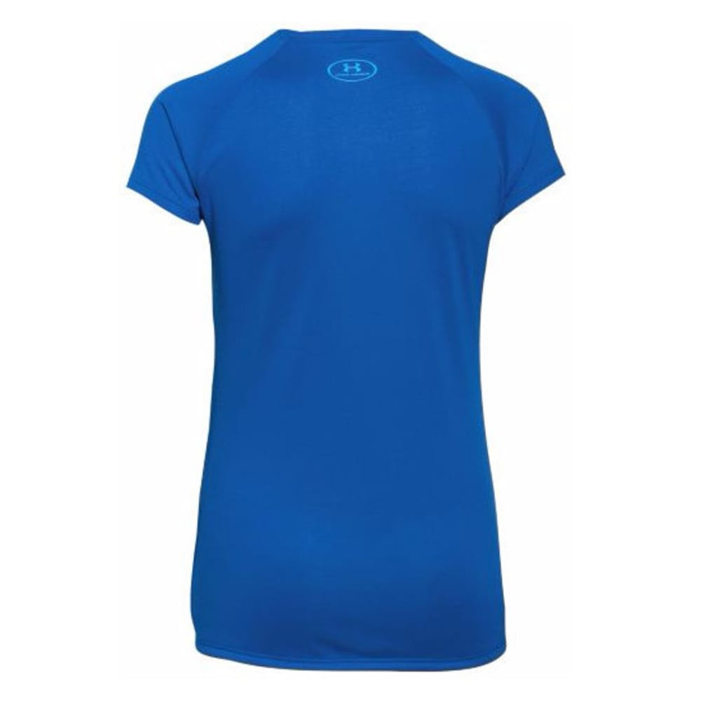 UNDER ARMOUR Girls' Big Logo Tee - ULTRA BLUE