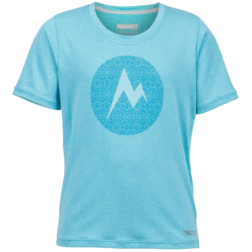 MARMOT Girls' Post Time Short-Sleeve Tee - LIGHT AQUA