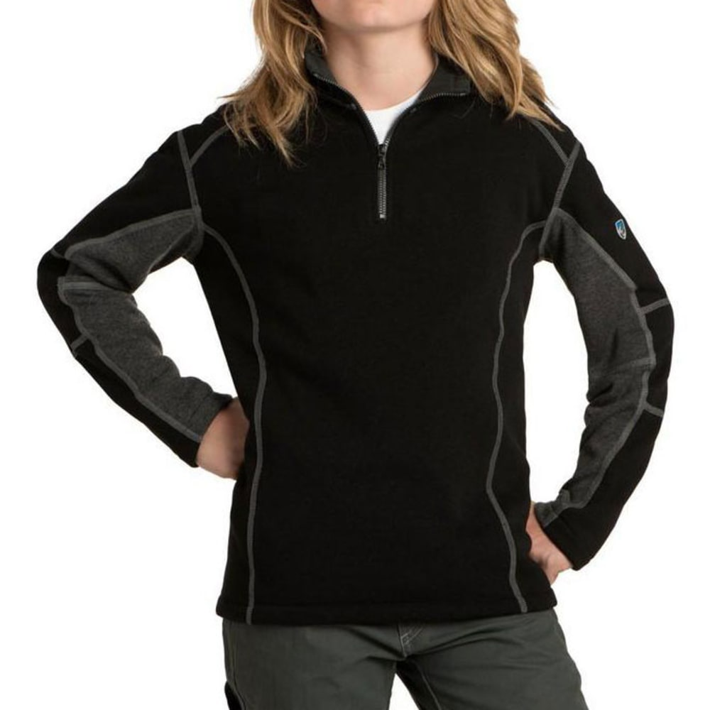 KUHL Kids Revel Quarter Zip    - BLACK/STEEL