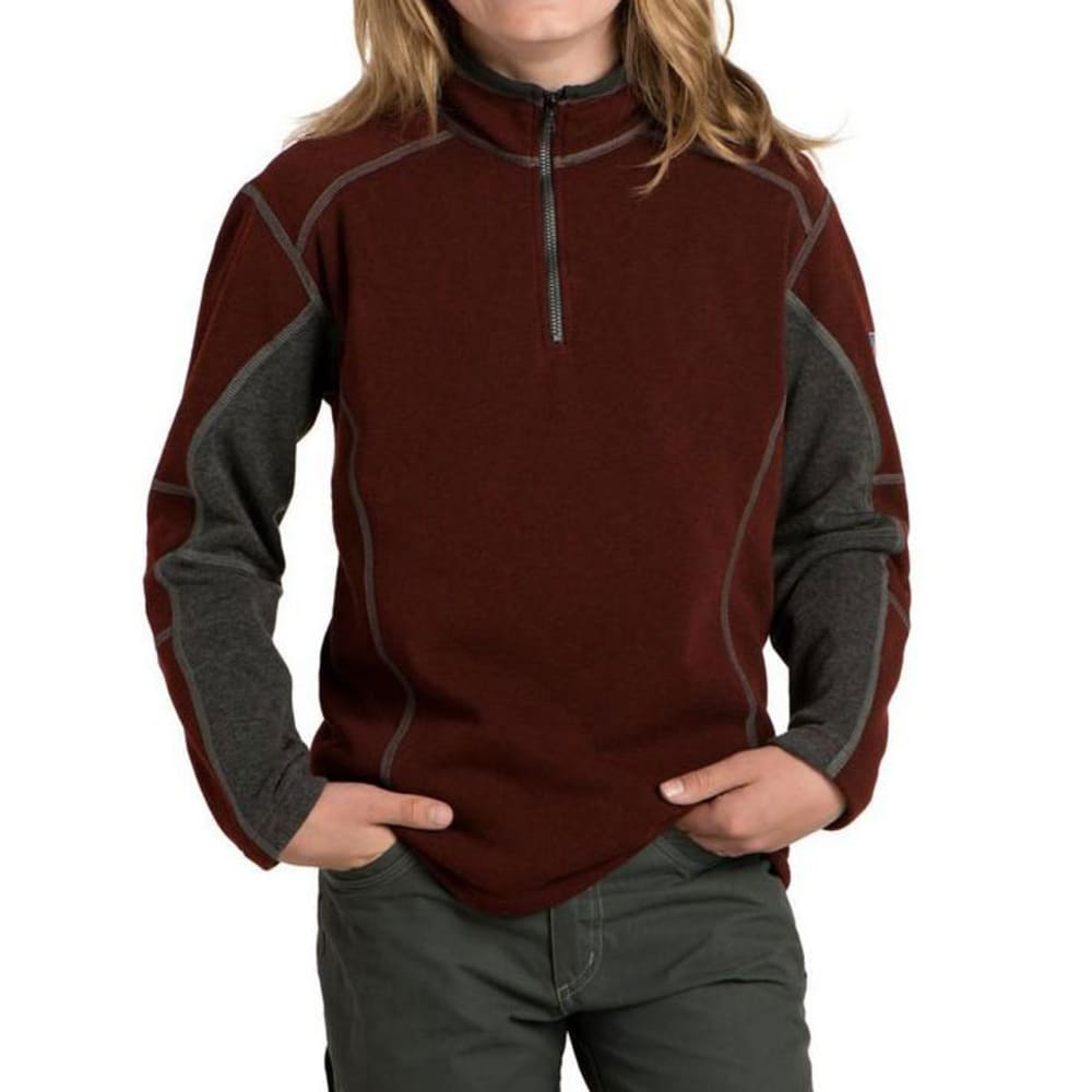 KUHL Kids Revel Quarter Zip    - BRICK/STEEL