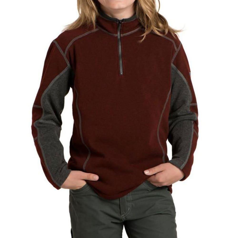 KUHL Kids Revel Quarter Zip  - BRICK/STEEL