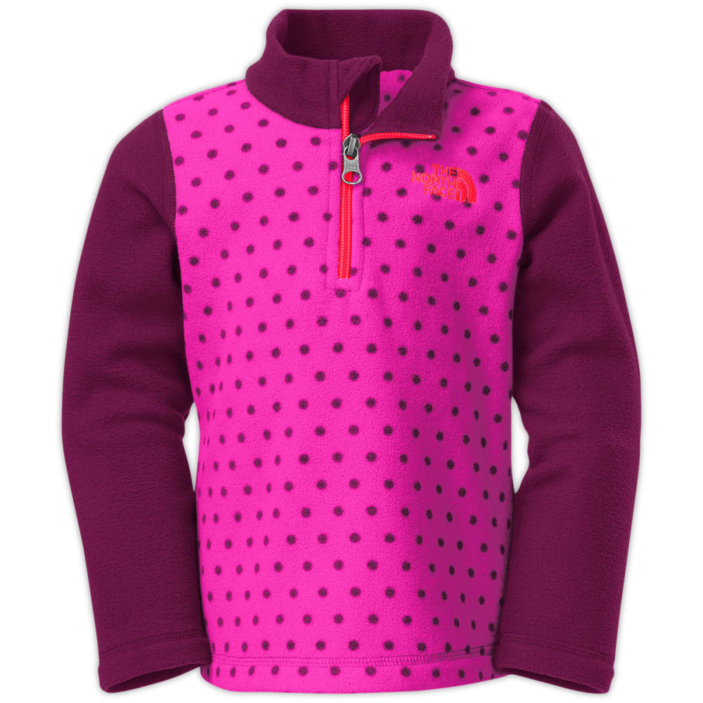 THE NORTH FACE Toddler Girls' Glacier ¼ Zip - AZALEA PINK