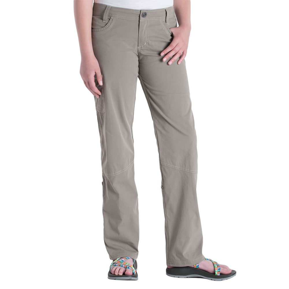 KUHL Girls' Splash Roll-Up Pants - LT KHAKI