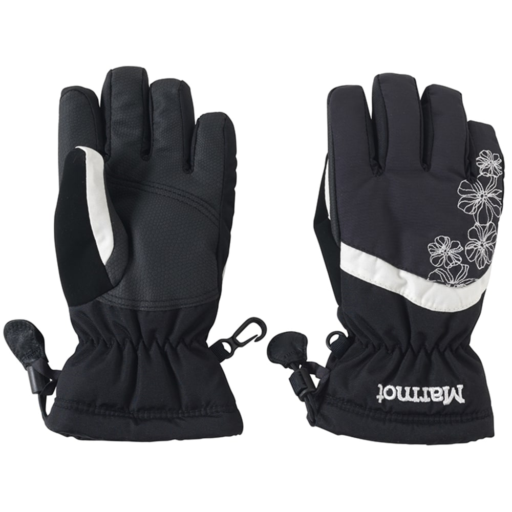 MARMOT Girls' Glade Glove - 001-BLACK
