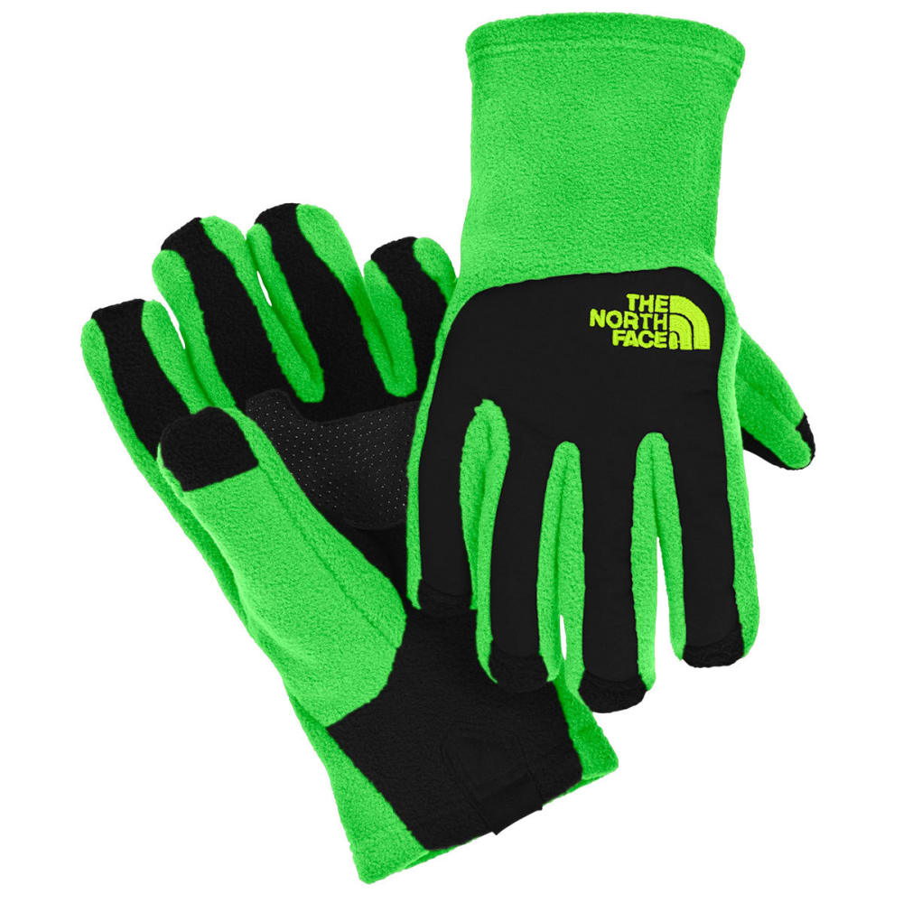 THE NORTH FACE Boys' Denali Etip Gloves - KRYPTON GREEN/BLACK