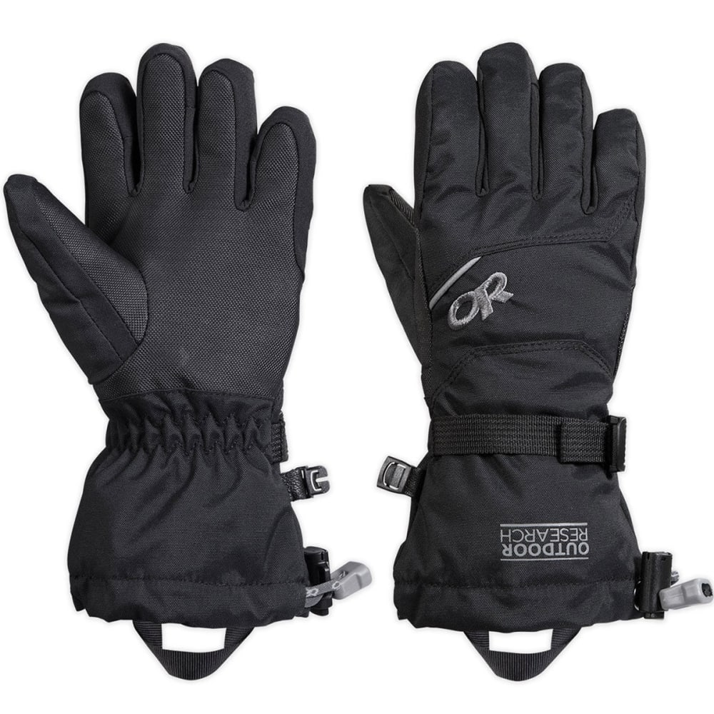OUTDOOR RESEARCH Kids' Adrenaline Gloves - BLACK