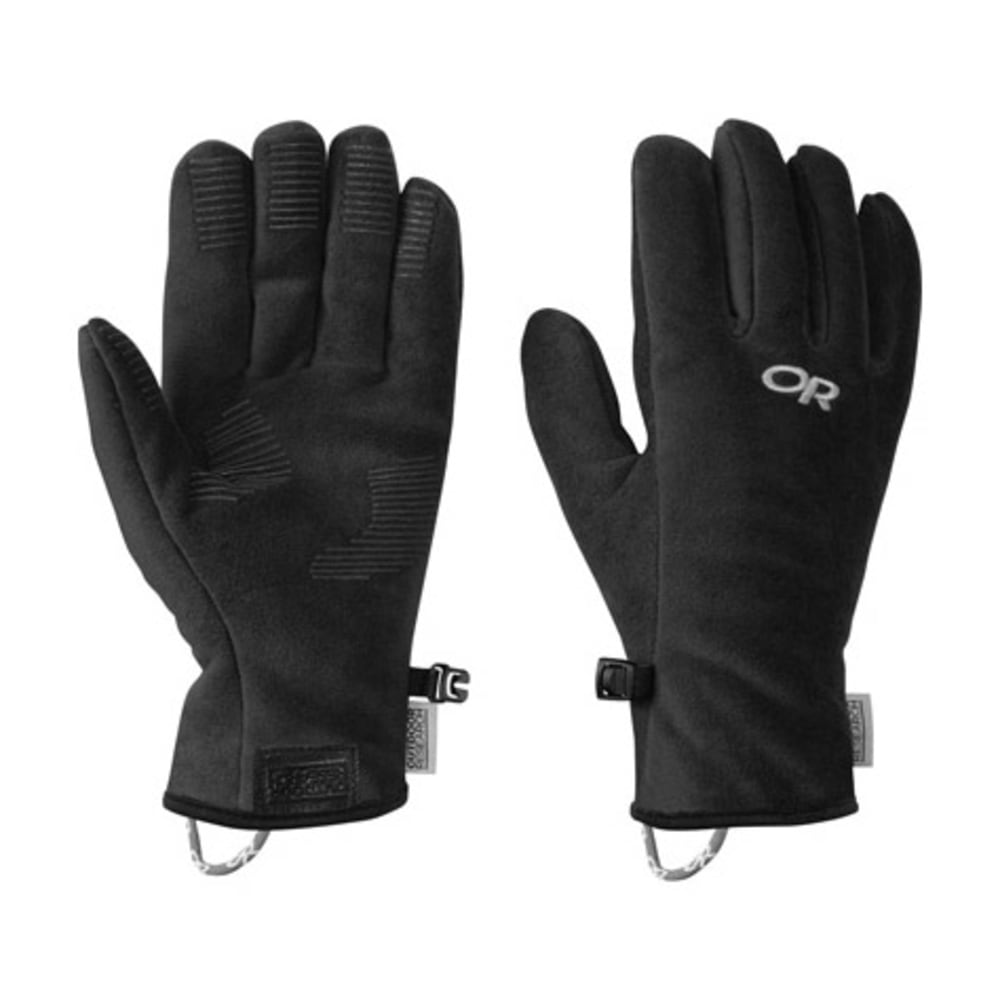 OUTDOOR RESEARCH Kids' Fuzzy Gloves - BLACK