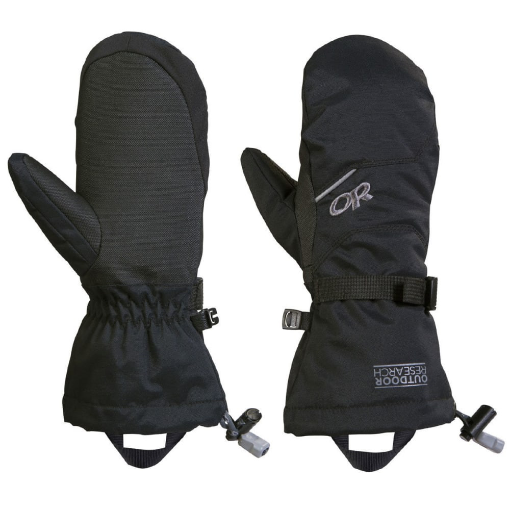 OUTDOOR RESEARCH Boys' Adrenaline Mitts - BLACK-0001