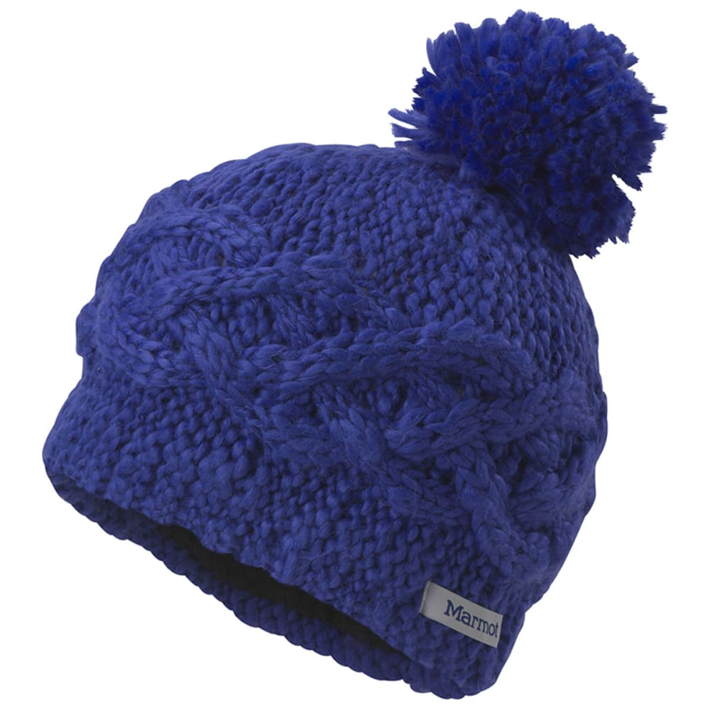 MARMOT Girl's Chunky Pom Hat - GEMSTONE