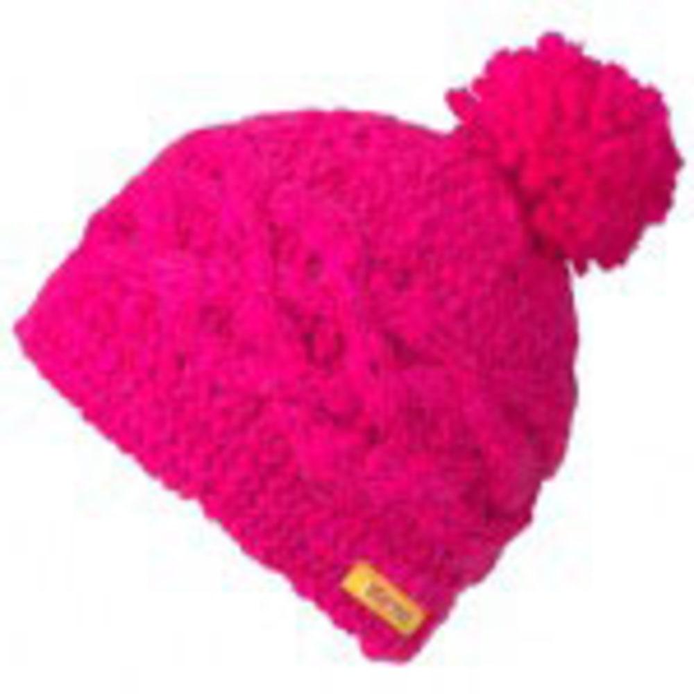 MARMOT Girl's Chunky Pom Hat - PINK FLAME