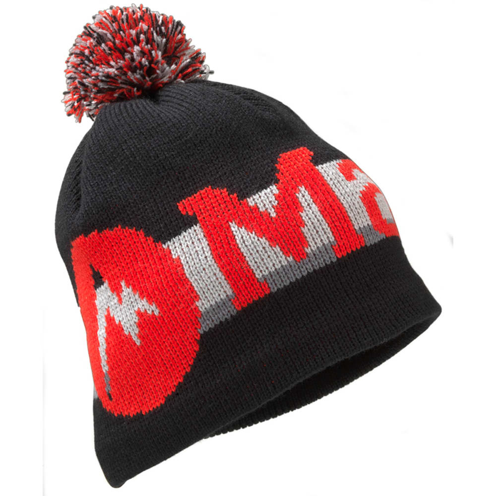 MARMOT Boy's Retro Pom Hat - BLACK