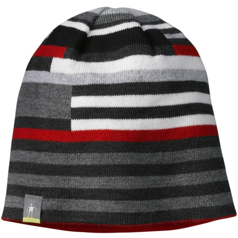 SMARTWOOL Kids' Wintersport Stripe Hat - CHARCOAL HEATHER