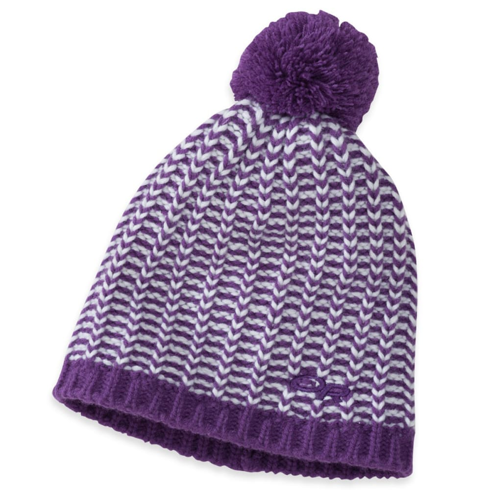 OUTDOOR RESEARCH Kid's Lil' Ripper Beanie - VIOLET/WHITE