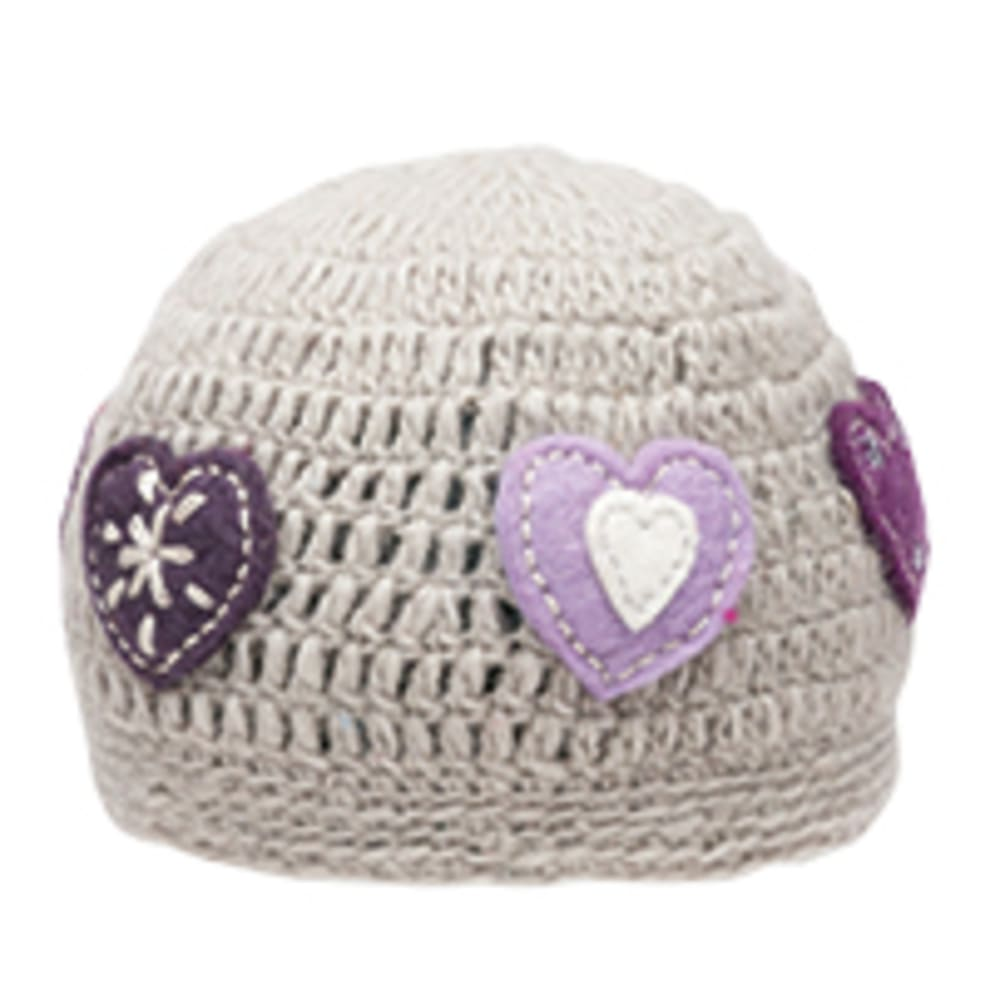 AMBLER Girl's Heart Toque Hat - LIGHT GREY