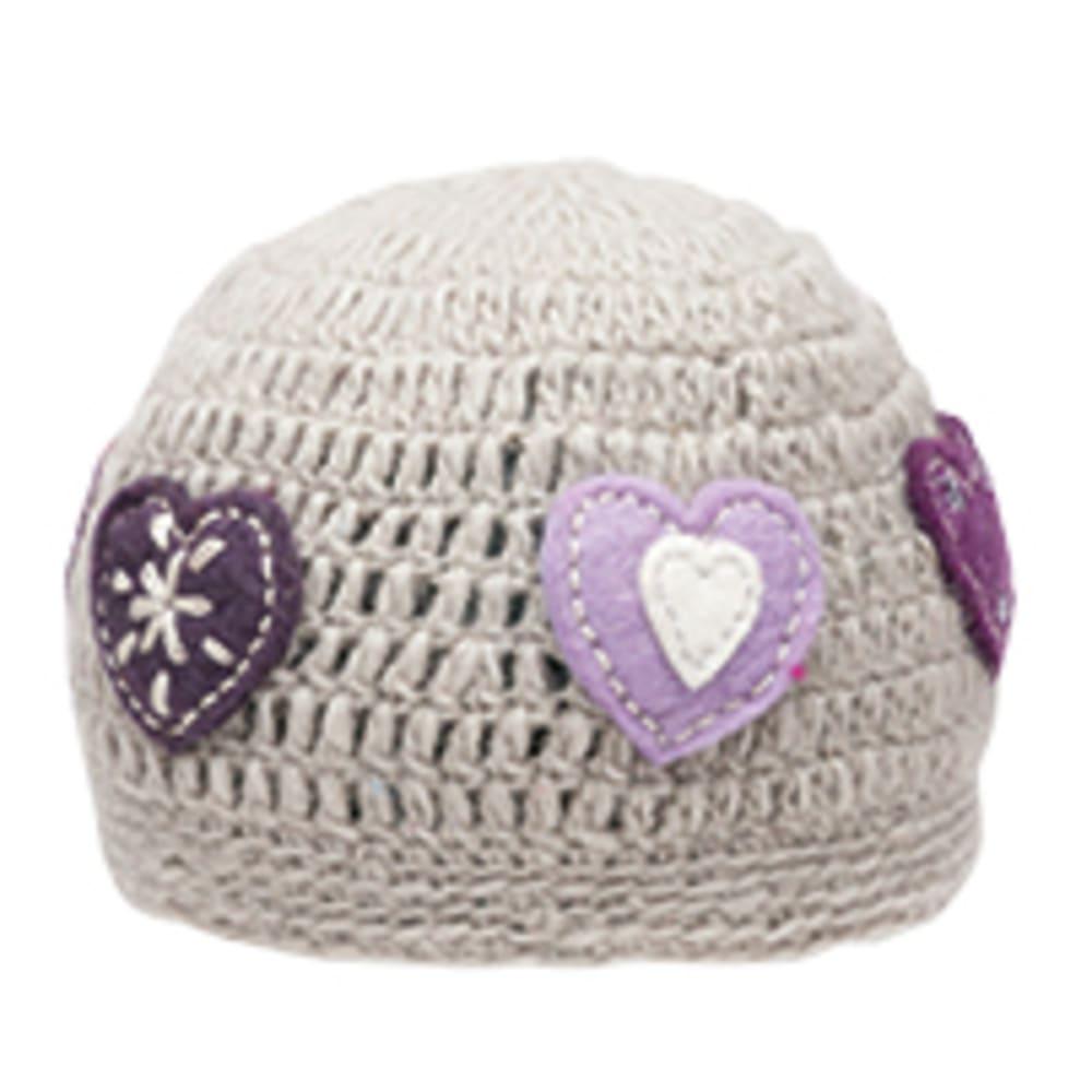 AMBLER Girl's Heart Toque Hat - LIGHT GREY