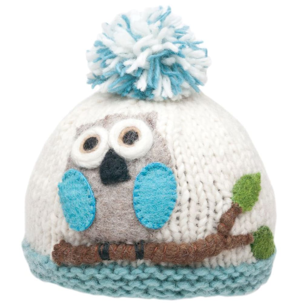 AMBLER APPAREL Girl's Owl Hat - LOTUS BLUE