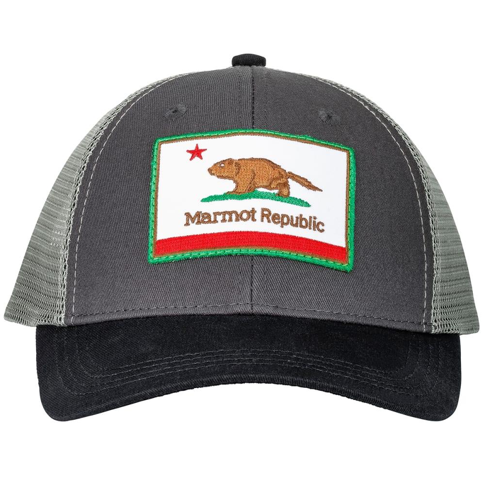 MARMOT Kid's Marmot Republic Trucker Hat - SLATE GREY HEATHER