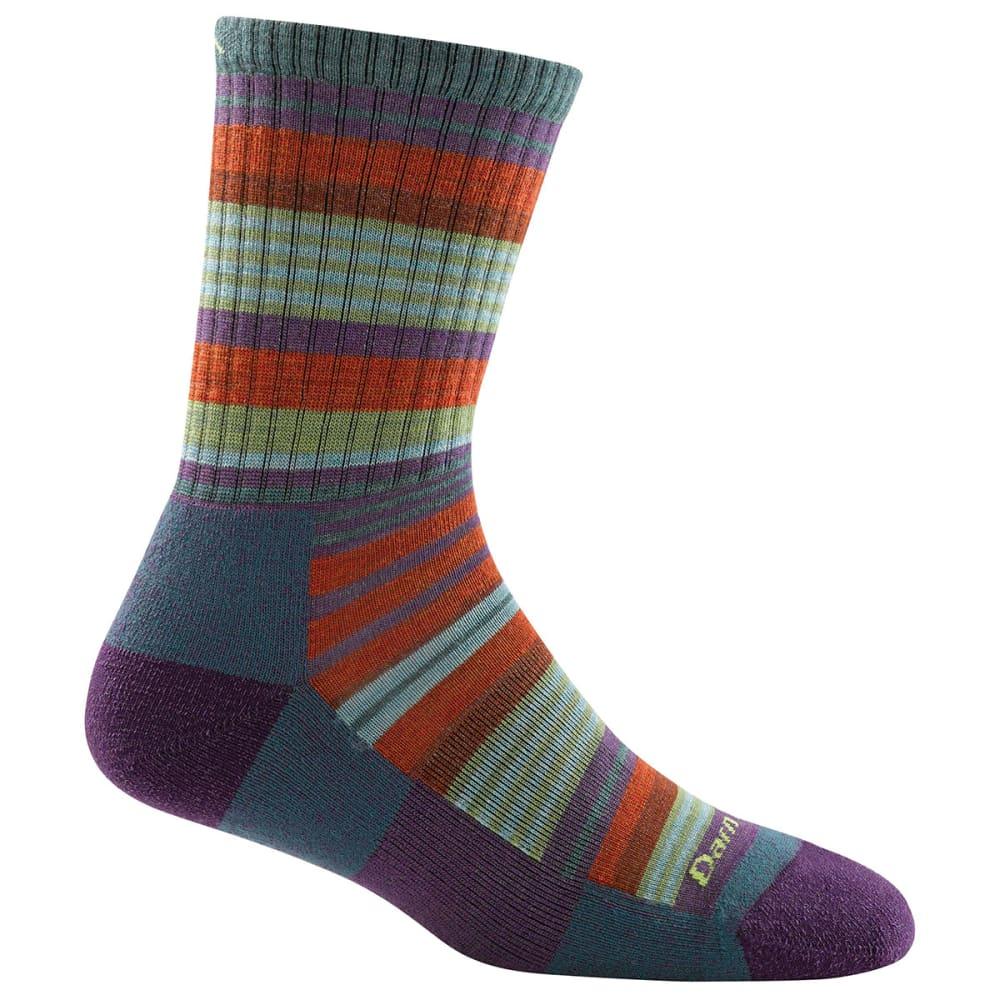DARN TOUGH Girl's Sierra Stripe Micro Crew Light Cushion Socks - TEAL
