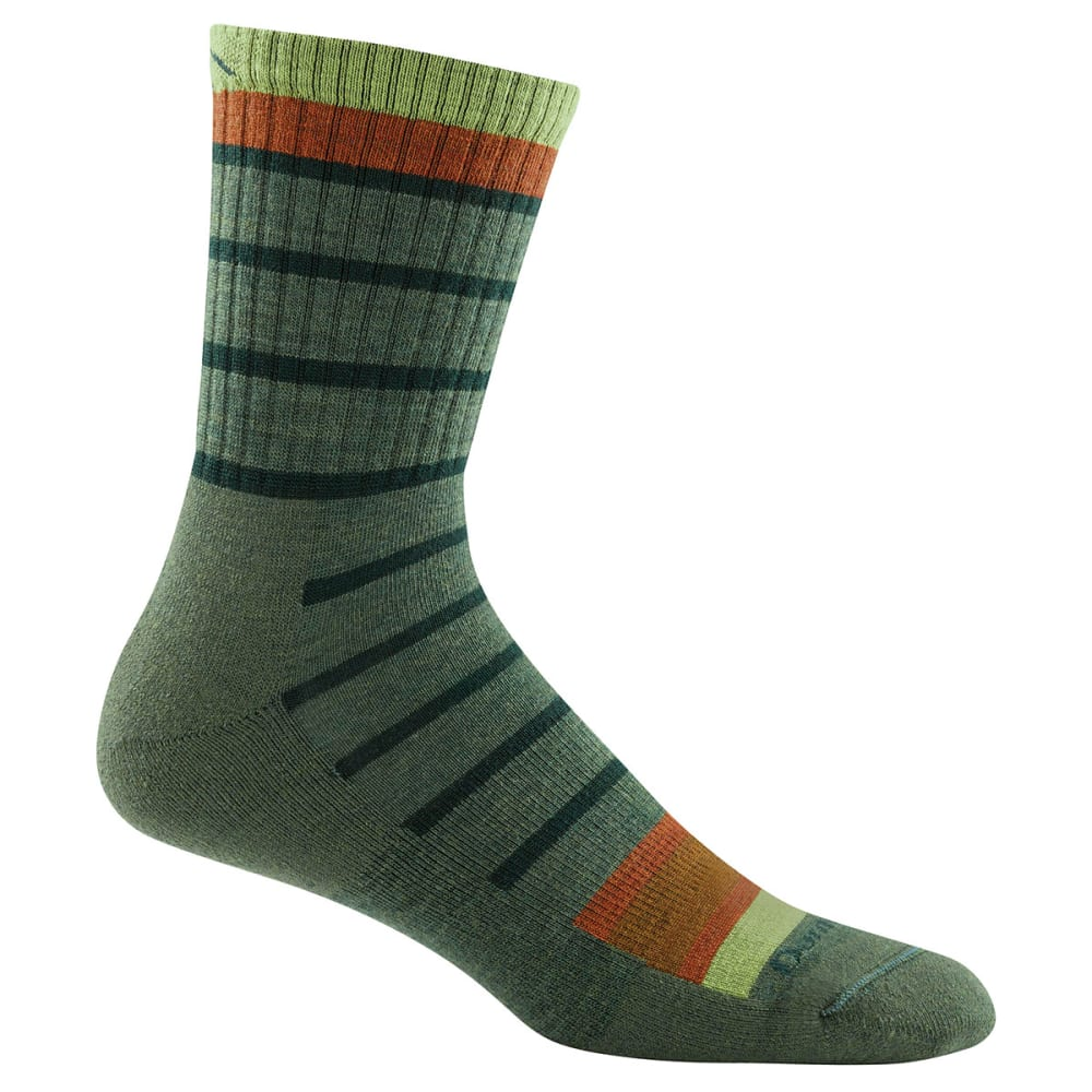 DARN TOUGH Boy's Via Ferrata Micro Crew Cushion Socks - OLIVE