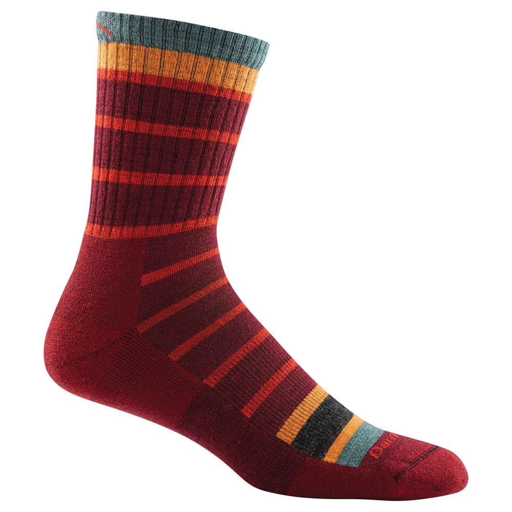 DARN TOUGH Boy's Via Ferrata Micro Crew Cushion Socks - BURGUNDY
