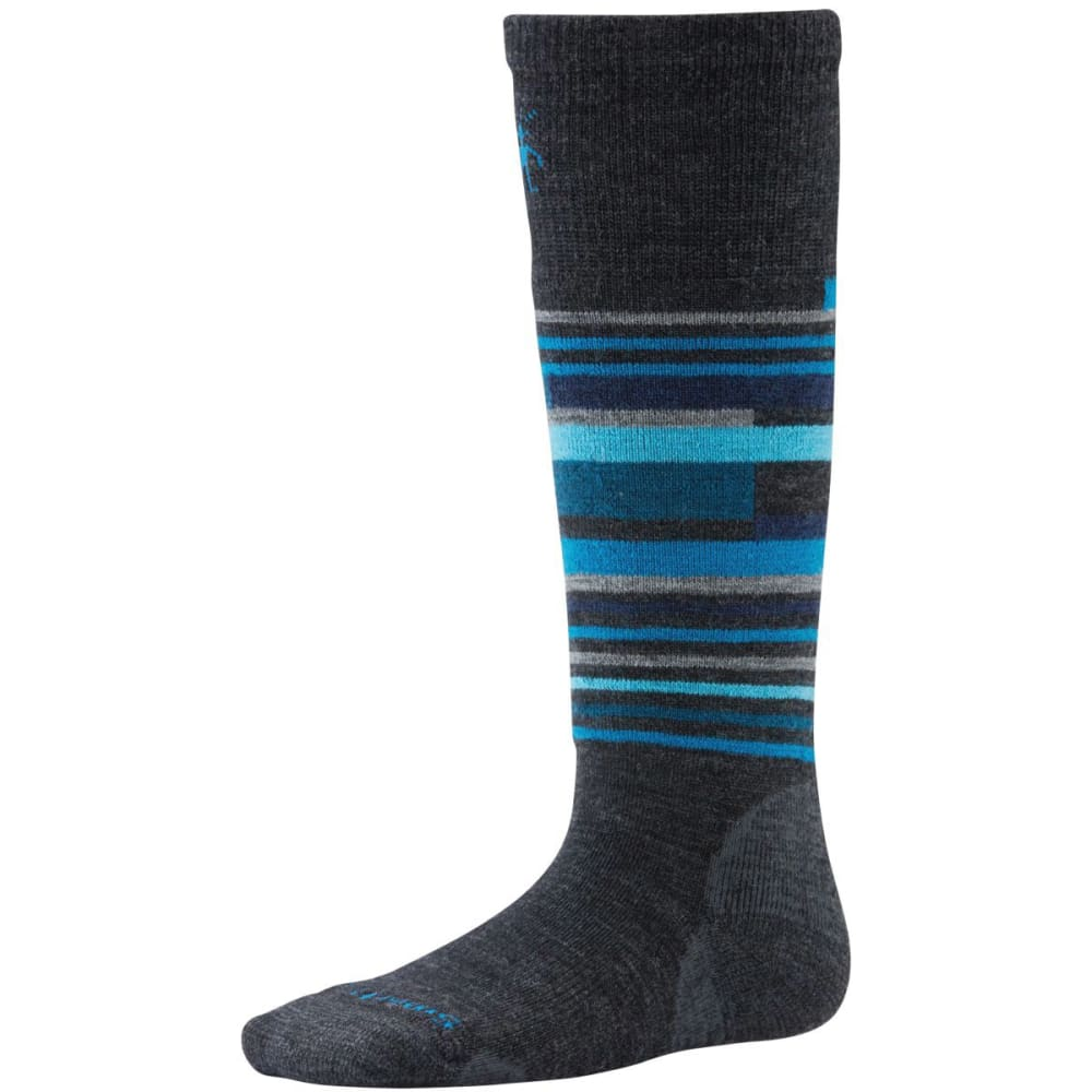 SMARTWOOL Boys' Wintersport Stripe Socks - CHARCOAL
