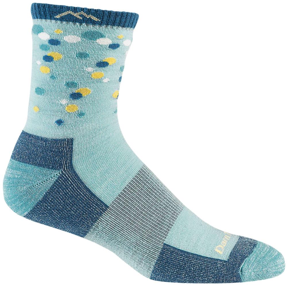 DARN TOUGH Girls' Eliza Dots Cushion Boot Socks - GLACIER