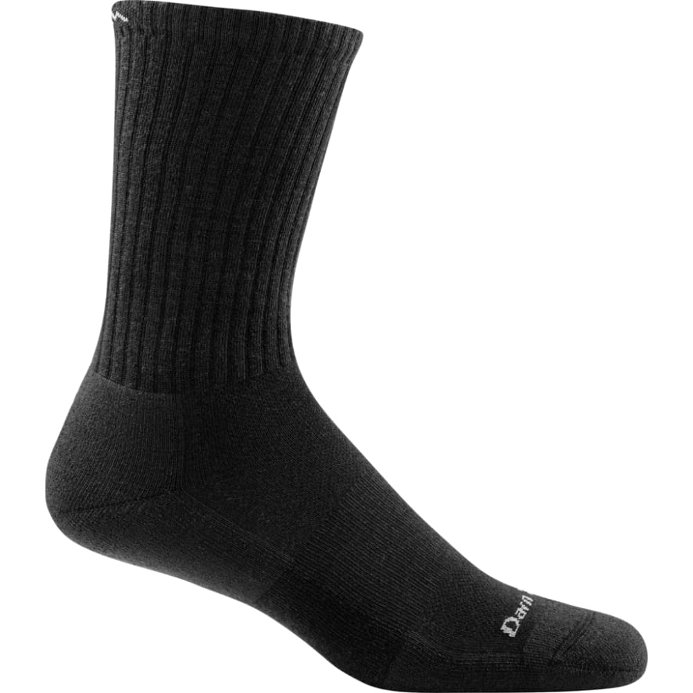 DARN TOUGH Boys' Benjamin Rugby Cushion Boot Socks - BLACK