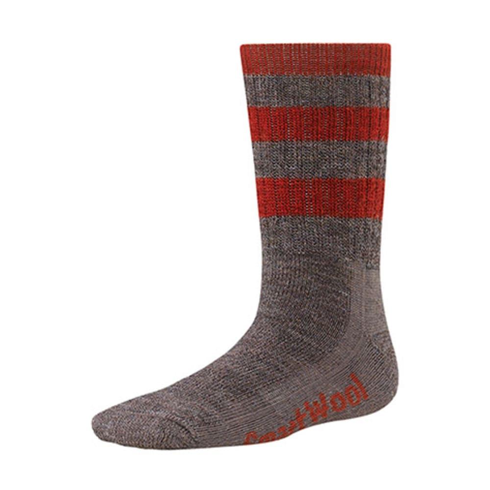 SMARTWOOL Kids' Striped Hike Medium Crew Socks - TAUPE