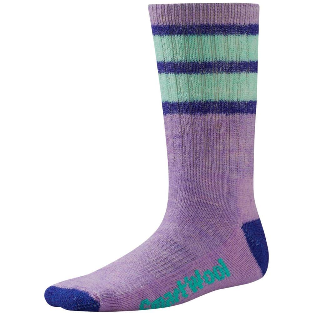 SMARTWOOL Kids' Striped Hike Medium Crew Socks - LILAC