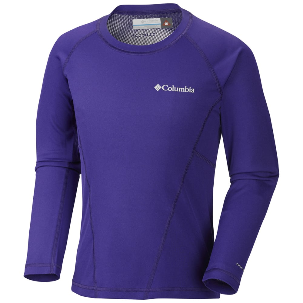 COLUMBIA Kids' Midweight Crew - PURPLE