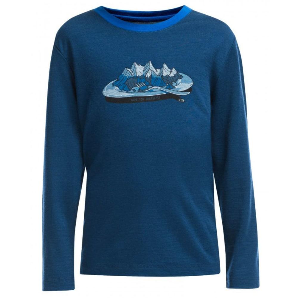 ICEBREAKER Boy's Tech Long Sleeve Top - NIGHT BLUE