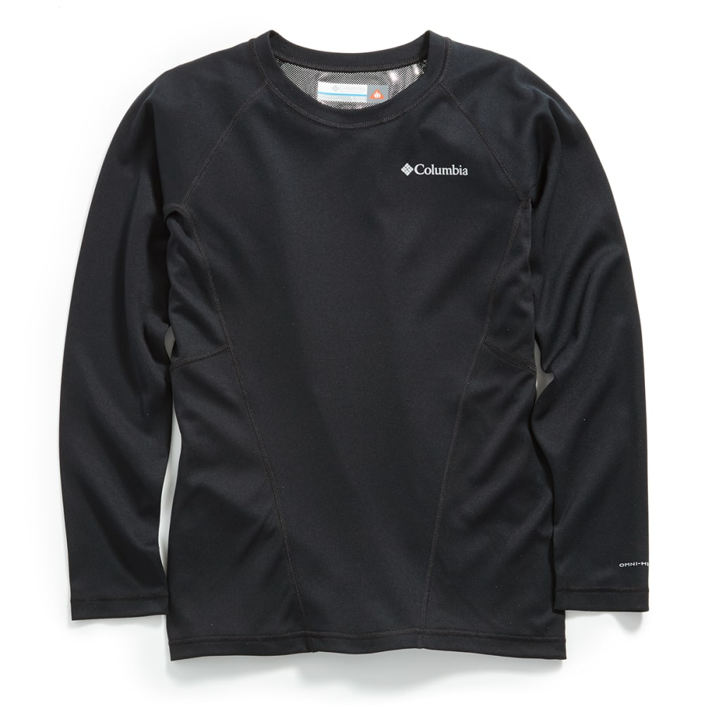 COLUMBIA SPORTSWEAR Kids' Baselayer Midweight Crew 2 - 011-BLACK