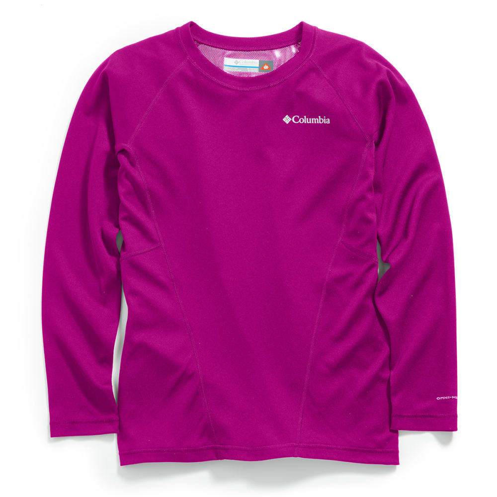 COLUMBIA Kids' Baselayer Midweight Crew 2 - BRIGHT PLUM